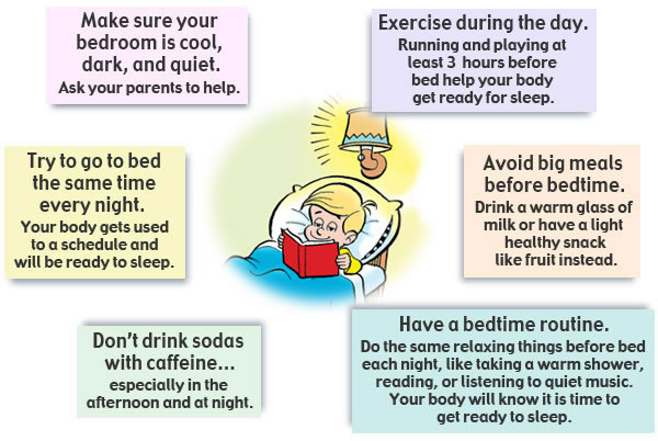 Sleep Tips. Sleep for Kids - Teaching Kids the Importance of Sleep
